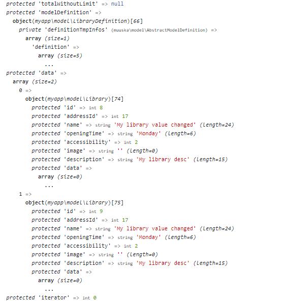 var_dump variable